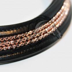 Hipponeiro frontriem ICOS ingelegd - Rosé gold 9 mm