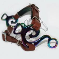 Combi Deal - Hipponeiro muziek hackamore met bruine bandjes