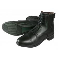 Pfiff Lederen jodphur schoenen met veters en rits
