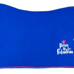Pfiff fleecedeken Fabulous Flamingo blauw