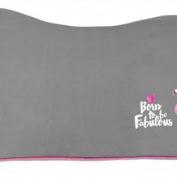 Pfiff fleecedeken Fabulous Flamingo grijs